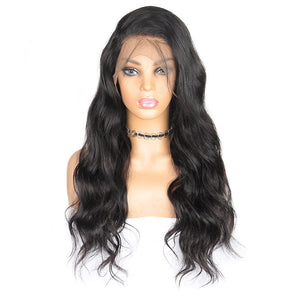 Ishow Malaysian Body Wave Virgin Human Hair Wigs 360 Lace Front Wig