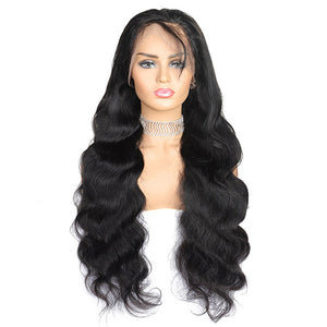 Ishow Lace Closure Wig Brazilian Body Wave 4x4 Lace Frontal Closure Virgin Remy Human Hair Wigs