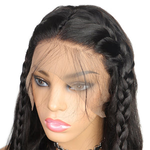 Ishow Indian Hair Wig 360 Lace Front Body Wave Virgin Human Hair Wigs
