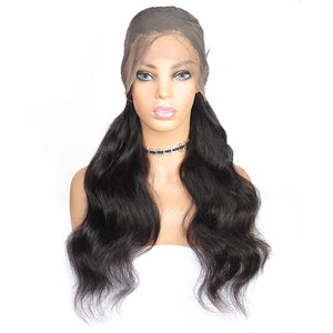 Ishow Hair Wigs Peruvian Body Wave 360 Lace Front Pre-Plucked Human Hair Wig