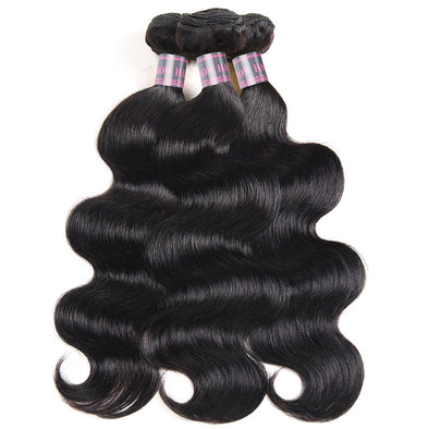 Malaysian Remy Human Hair Weave Ishow Body Wave 3 Bundles  Hair Extensions Natural Color Human Hair Bundles Of Weft