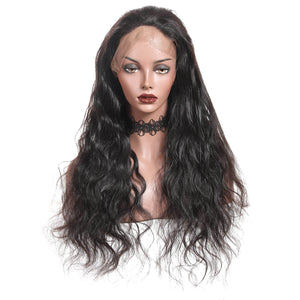 Ishow Hair Cheap Peruvian Body Wave Lace Front Wigs