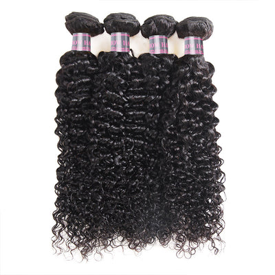 Indian Curly Hair 4 Bundles Virgin Human Hair Extensions Ishow Hair