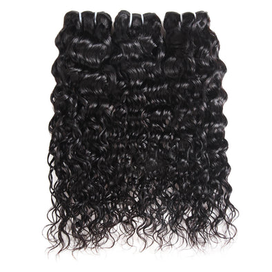 Water Wave Human Hair 3 Bundles Ishow Malaysian Hair Weave Natural Color 100% Virgin Remy Human Hair Extension - IshowVirginHair