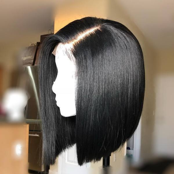 Ishow Hair Peruvian Straight  Remy Human Hair Short Bob Wigs