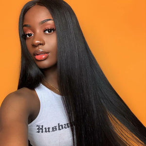 Ishow Lace Front Wig Malaysian Straight Virgin Remy Human Hair Wigs