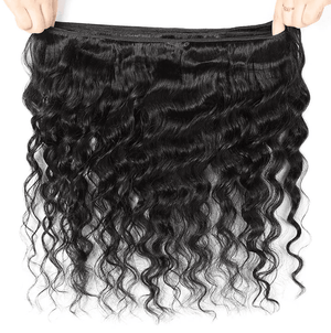Brazilian Loose Deep Wave Hair Bundles With 13*4 Ear To Ear Lace Frontal Closure