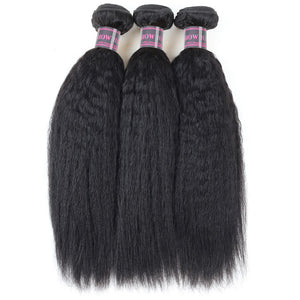 Ishow Hair 100% Peruvian Remy Human Hair Weave Yaki Straight Human Hair 3 Bundles - IshowVirginHair