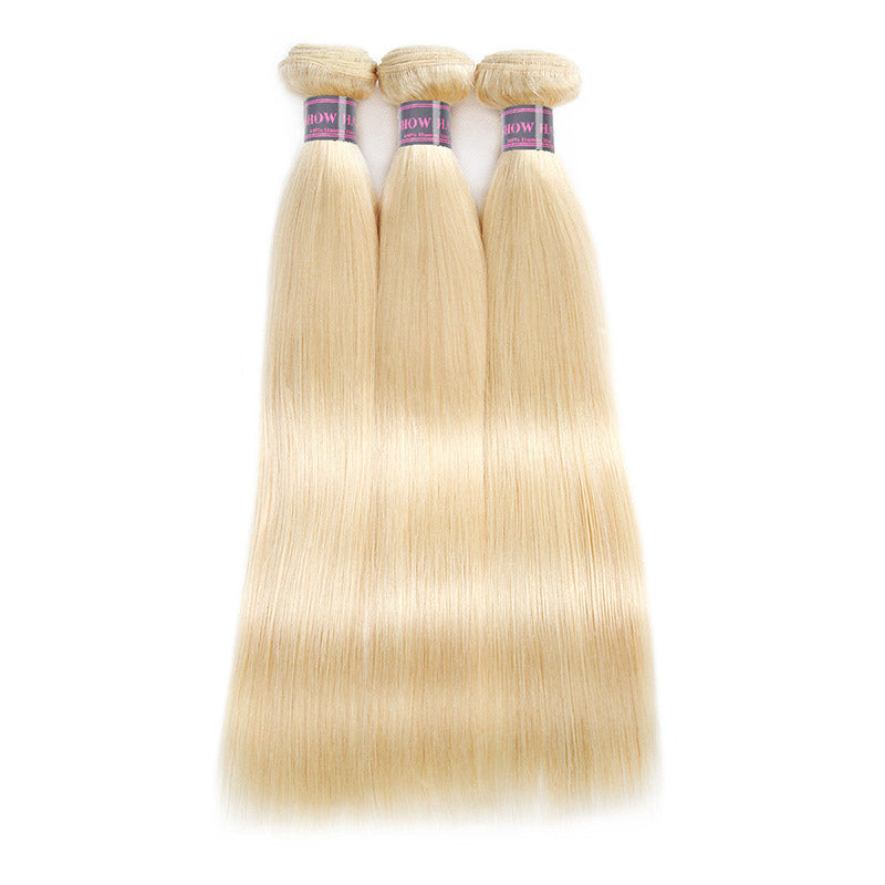 Ishow Hair Brazilian Straight Hair 3 Bundles 613 Blonde Color