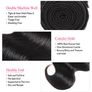 Ishow Hair Body Wave Human Hair Bundles 8-28inch Natural Color 1 Piece Hair Extension - IshowVirginHair