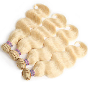 Ishow Hair Brazilian Human Hair Blonde Body Wave Hair 4 Bundles