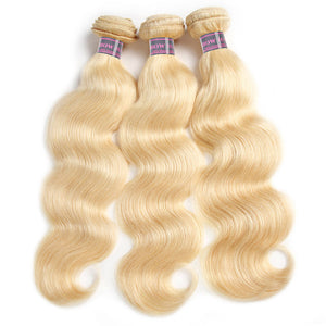 Ishow Body Wave Hair 613 Blonde Hair With Lace Frontal 3 Bundles Hair With 13*4 Lace Frontal