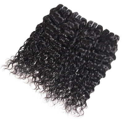 4 Bundles Deal Peruvian Water Wave Human Hair Weave Bundles Remy Virgin Human Hair Extensions Natural Black Color - IshowVirginHair