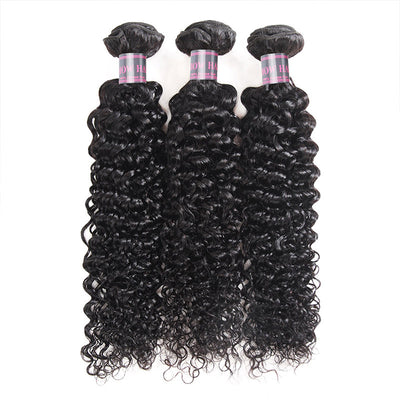 Ishow Hair Virgin Mongolian Curly Hair 3 Bundles Remy Human Hair Weave