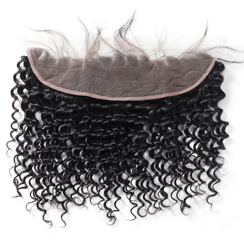 Deep Wave Ear To Ear 13*4 Lace Frontal Closure