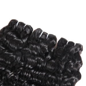 Peruvian Ishow Water Wave Ear to Ear Lace Frontal with 3 Bundles Hair Extensions 100% Remy Virgin Human Hair Bundles - IshowVirginHair