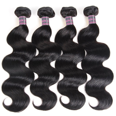 Indian Body Wave Human Hair Bunldes Weave Ishow 4 Bundles Natural Color 8-28 Inches 100% Remy Human Hair Extensions - IshowVirginHair
