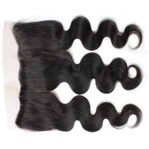 Ishow Virgin Indian Body Wave Hair 3 Bundles with 13*4 Ear To Ear Lace Frontal