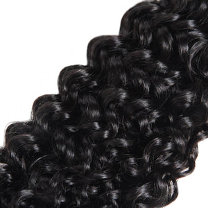 Virgin Brazilian Curly Hair 3 Bundles with 13*4 Lace Frontal Ishow Human Hair Weave