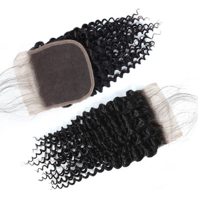 4*4 Free Part Lace Closure Ishow Curly Wave Hair Extensions 8-20 inches Virgin Remy Human Hair Swiss Lace Baby Hair - IshowVirginHair