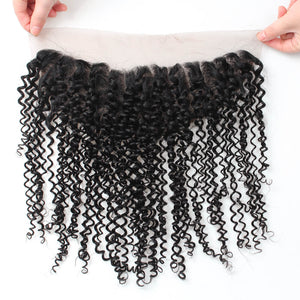 Ishow Virgin Brazilian Curly Hair Weave 3 Bundles with 13*4 Lace Frontal - IshowVirginHair