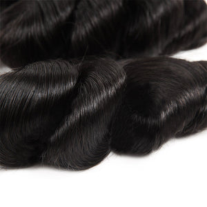 Virgin Brazilian Loose Wave Hair 4 Bundles Deal Ishow Human Hair Extensions