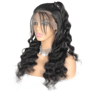 Ishow Hair Wig Brazilian Loose Deep Wave Lace Frontal  Human Hair Wigs