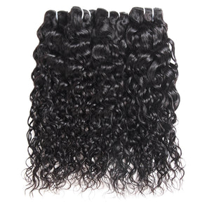 Malaysian Water Wave Ishow Hair Weave 4 Bundles Natural Color 100% Remy Human Hair Extensions 8''-28'' Free Shipping - IshowVirginHair