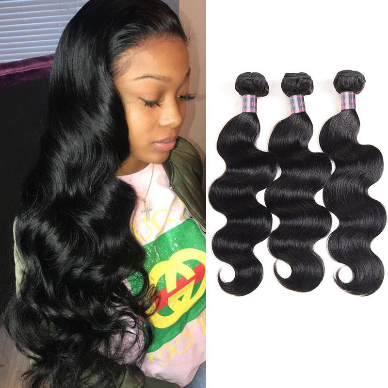 Virgin Malaysian Human Hair Weave Body Wave 3 Bundles Ishow Hair