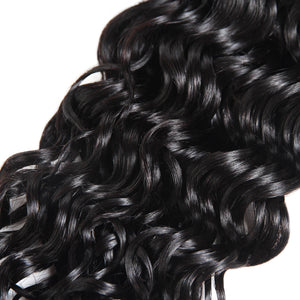Malaysian Water Wave Human Hair Weave 4 Bundles With Lace Closure Ishow 100% Remy Virgin Human Hair Extensions - IshowVirginHair