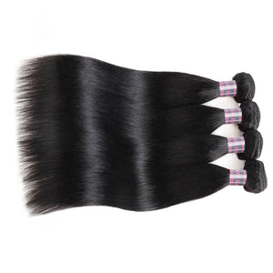 Ishow Hair Virgin Indian Straight Human Hair Weave 4 Bundles