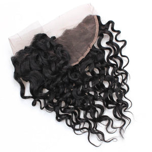 Ear To Ear Lace Frontal Closure With 4 Bundles Peruvian Water Wave Hair Bundles 100% Virgin Remy Human Hair Weave - IshowVirginHair