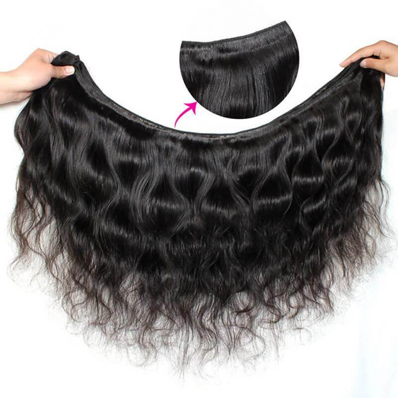 Brazilian Body Wave 4 Bundles With 13x4 Lace Frontal Closure Ishow Human Hair Extensions