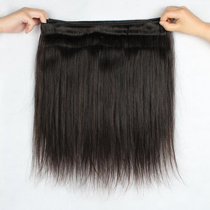 100% Human Hair Bundles Brazilian Hair Weave Ishow Hair 3 Bundles Deal Straight Remy Hair Natural Color - IshowVirginHair