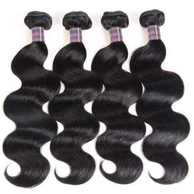 Malaysian Body Wave Hair Bundles Ishow Virgin Remy Human Hair Extensions 4 Bundles Natural Black Color Hair Weave