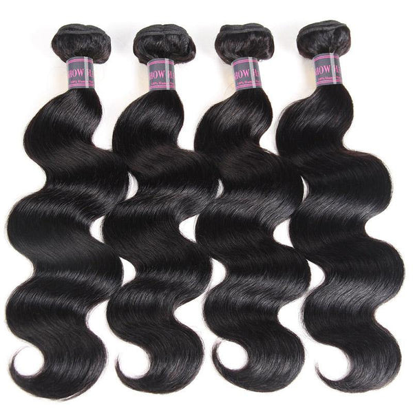 100% Virgin Malaysian Body Wave Hair 4 Bundles Ishow Human Hair Extensions Natural Color