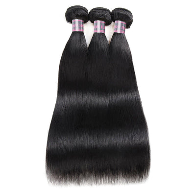 Ishow Virgin Peruvian Hair Straight Human Hair 3 Bundles