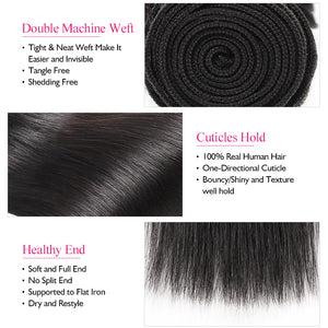 Ishow Hair Straight Hair Weave Bundles Human Hair Extensions Double Weft 1 Piece Bundles Deal - IshowVirginHair