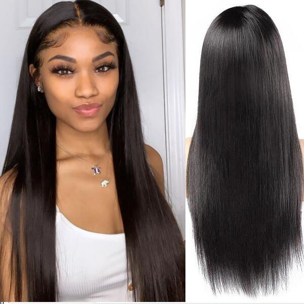 360 Frontal Wig 150% Density Straight Hair Virgin Human Hair Wigs