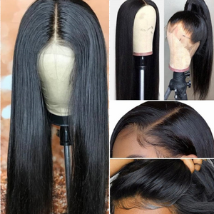 Ishow Lace Front Hair Wigs Peruvian Virgin Remy Straight Human Hair Wig