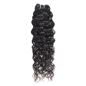 Water Wave Hair Extensions Natural Black Color Indian Ishow Virgin Human Hair Weave 4 Bundles With 4*4 Lace Closure - IshowVirginHair