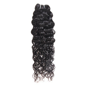 Ishow Water Wave Human Hair Weave Bundles 1pc Natural Black Non Remy Hair Extensions - IshowVirginHair