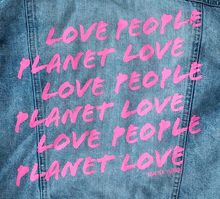 Load image into Gallery viewer, LOVE PEOPLE LOVE PLANET - Reworked Denim Jacket