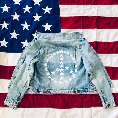 Peace For The Planet Painted Denim Jacket