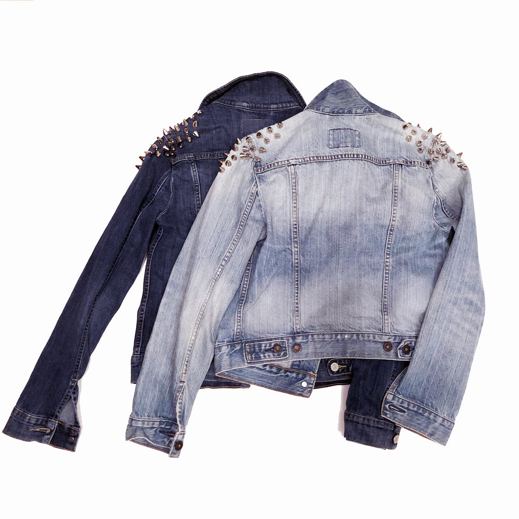 Spikes On Top - Reworked Denim Jacket