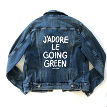 Load image into Gallery viewer, J'ADORE LE GOING GREEN - Reworked Denim Jacket