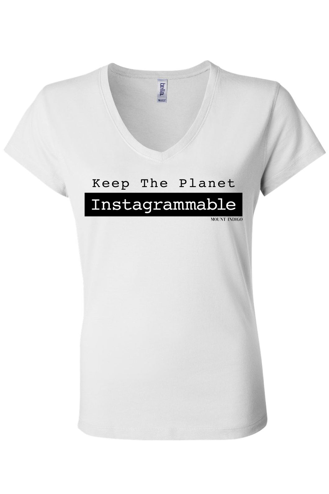 Keep The Planet Instagrammable Typewriter Tee