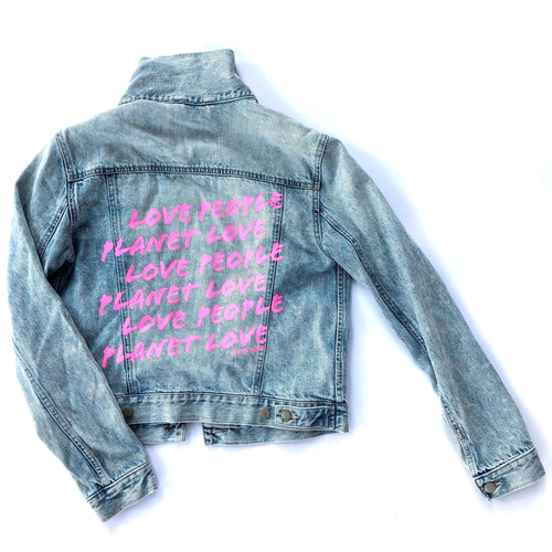 LOVE PEOPLE LOVE PLANET - Reworked Denim Jacket
