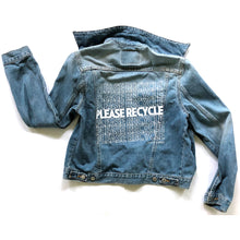 Load image into Gallery viewer, PLEASE RECYCLE - Reworked Denim Jacket