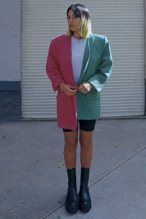 Fucsia / Green Jacket - HONESTA